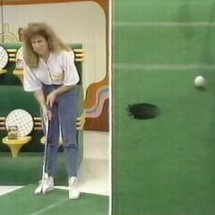 Unfortunately, the contestant did not make her putt. But luckily for her...