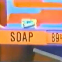 Her next pick is the soap, marked at 89¢.