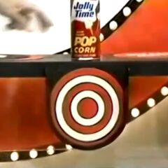 Oh, and the Jolly Time popcorn had the hidden bullseye. If she hadn't gone over on <i>that</i>, she would've won.