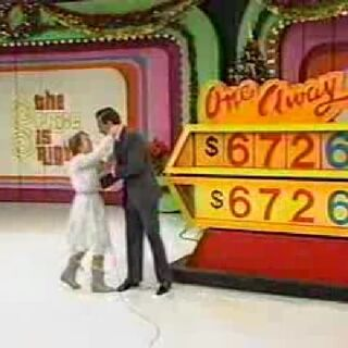 Here's a win from Christmas Eve 1986 (#6313D) during the four digit era. The contestant kept screwing up the first line, so the audience had to help her.