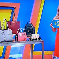 The price of the designer handbags.