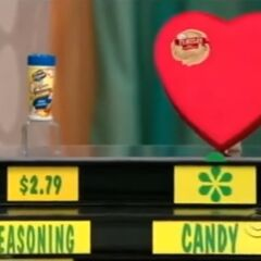 He says the Turtles chocolate candy is more expensive than the Kernel Season's popcorn seasoning.