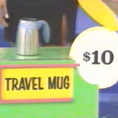 She thinks the travel mug is $10. She is correct.