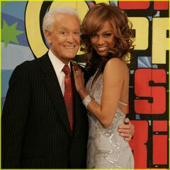 Bob with Supermodel-turned-Talk Show Hostess & <i>America's Next Top Model</i> head judge Tyra Banks, February 17, 2006
