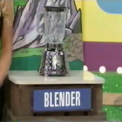 The 3rd item is a Blender. She can miss the price by $1 high or low.