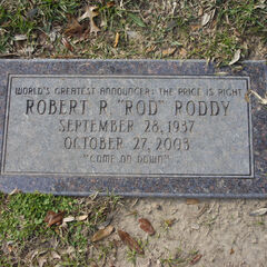 Rod Roddy's Tombstone.