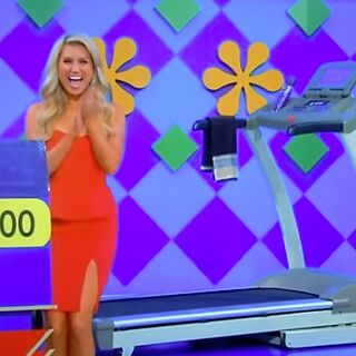 Here's the price of the treadmill that a handicapped contestant had won.