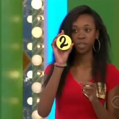 Her second draw is a 2. She thinks it's the second number but is incorrect.