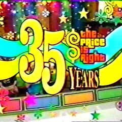 From September 19, 2006 (#3682K), The Price is Right 35th Anniversary! The only difference is that it has stars and asterisks