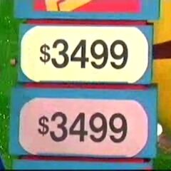 $3499 is the right price and the contestant chose right.