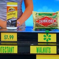 She says the walnuts are less expensive than the Armor All protectant wipes.