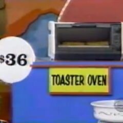 He thinks the toaster oven is $36. He is correct.