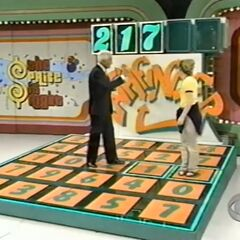 She stepped on the 6, but the 7 had appeared on the board instead.