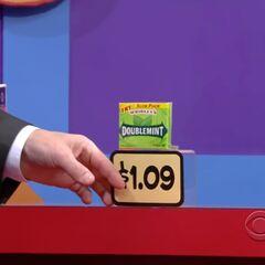 Finally, she picks 1 gum for a total of...