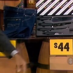 The price of the knife set is $44.