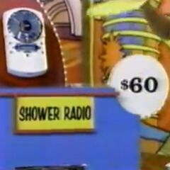 He thinks the shower radio is $60. He is correct.