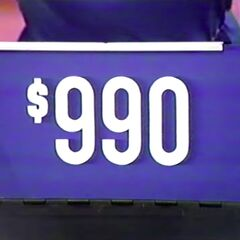 First, he picks the range, which is $990.