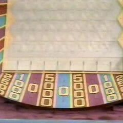 Again, as mentioned, Plinko used two money sequences. This one was only used on the first playing.