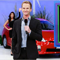 Neil Patrick Harris flashes a smile to the audience while presenting his showcase. Notice Manuela waving in the background