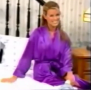 Rachel in Satin Sleepwear-11