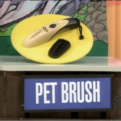 The final item is a Pet Brush (for those who have a cat or a dog).