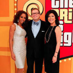 Drew with <i>Talk</i> hosts Julie Chen and Holly Robinson-Peete during their April 2011 cameo. Drew also appeared as a guest on <i>The Talk</i> later that day.