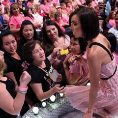 Giuliana Rancic, co-host of E's <i>Fashion Police</i> chats with an audience full of breast cancer survivors during <i>TPiR's</i> Breast Cancer Awareness Special
