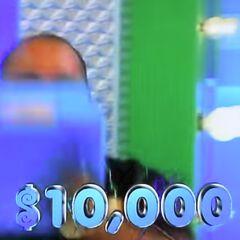 But he didn't win $10,000 in cash...