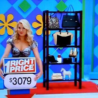 She picks the designer accessories.
