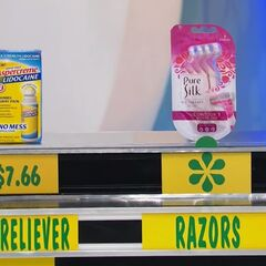 Erin says the razors are more expensive than the pain reliever.