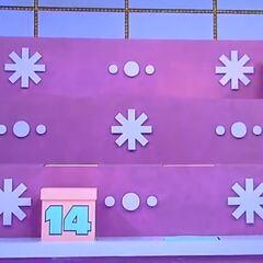 Here's a hint: the $20,000 is in a pink box with a blue number on it.