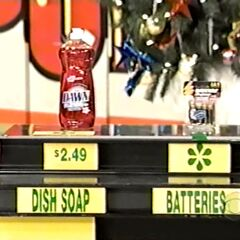 Dwayne says the Rayovac batteries are more expensive than the Dawn dish soap.