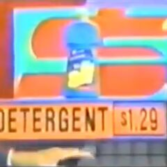 And that final pick is the detergent, marked at $1.29.