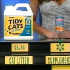 She is correct. She says the supplement is more expensive than the cat litter.