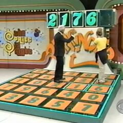 When she stepped on the 7, Bob had realised that the 3rd and 4th digits were reversed in the display.