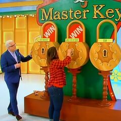 And, the second key she picked was for the weekly gas fill-ups for 1 year.