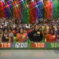 Contestant's Row from 2001. People guess the price of the prize.
