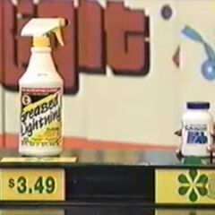 Joel says the Gaviscon antacid is more expensive than the Greased Lightning cleaner.