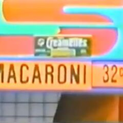 She starts with the macaroni, marked at 42¢.