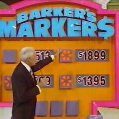 She decides to leave the marker at $1,569.
