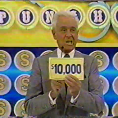 After that, he finds the top cash prize seen here. What a real risk-taker.