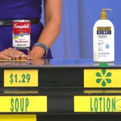 She says the Gold Bond Ultimate healing lotion is more expensive than the Campbell's Cream of Mushroom soup.