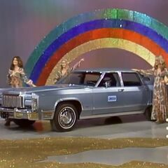 Back then they offered cars worth more than $10,000 like this one, from that first permanent hour long show. Notice the carpet that was originally the Golden Road.