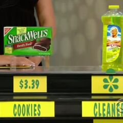 He says the cleaner is less expensive than the cookies.