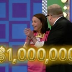 If she gets all 5 prizes right on the first try within 30 seconds, she will win $1,000,000.