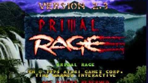 Primal Rage The Inferno Arcade Version