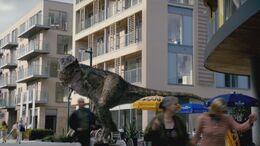 5x5 TyrannosaurusRampagingThroughLondon