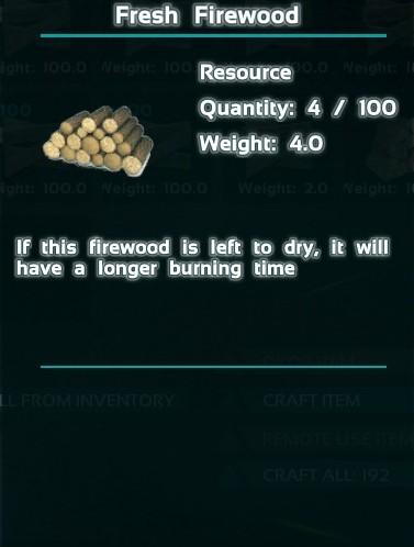 Fresh Firewood Ark Primitive Survival Wikia Fandom Powered By Wikia