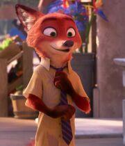 Nick adjusting his tie
