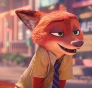 Nick Wilde talks to Judy